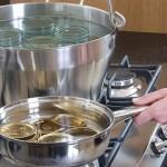 Αποστείρωση, σφράγισμα και αποθήκευση βάζων