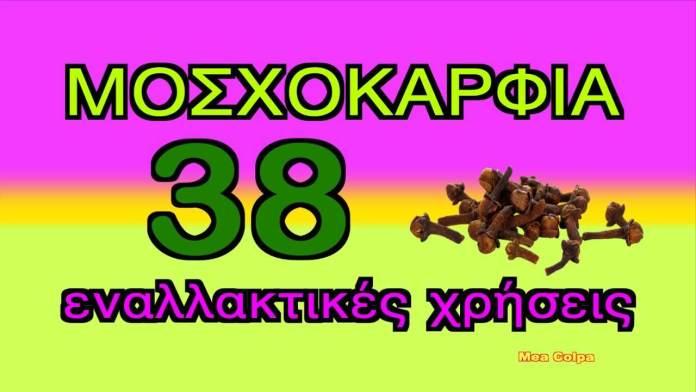 Μοσχοκάρφια – γαριφαλάκι – 38 εναλλακτικές χρήσεις