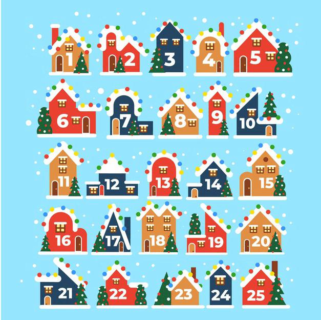 Φτιάξτε ημερολόγιο Χριστουγέννων… λίγο καθυστερημένα
