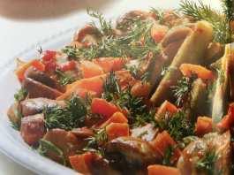 Μπάμιες με μανιτάρια & άνηθο - συνταγή