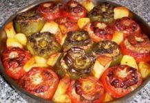Γεμιστές πιπεριές και τομάτες στο ταψί
