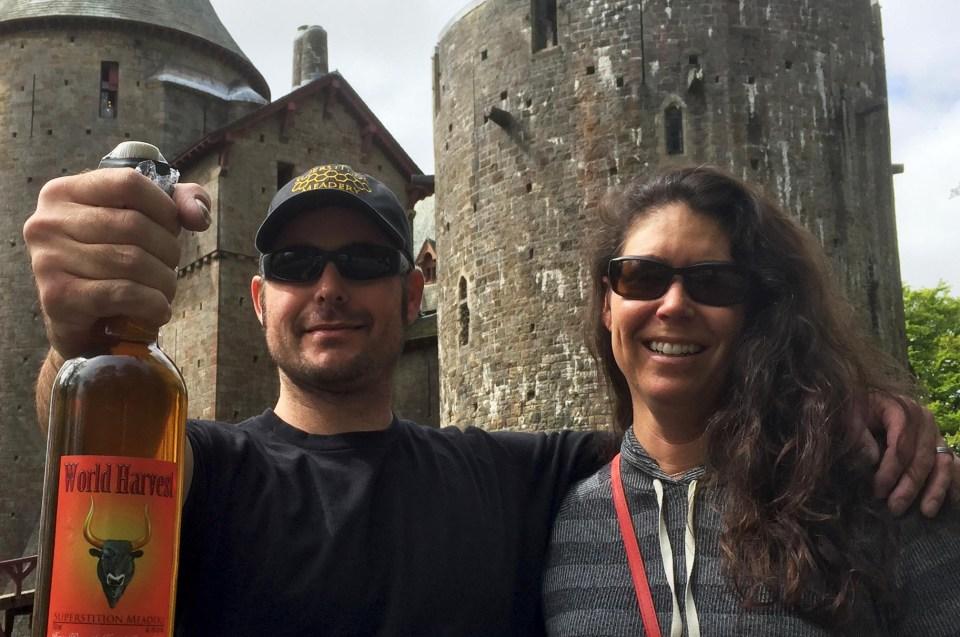 Jeff and Jen Herbert in Wales