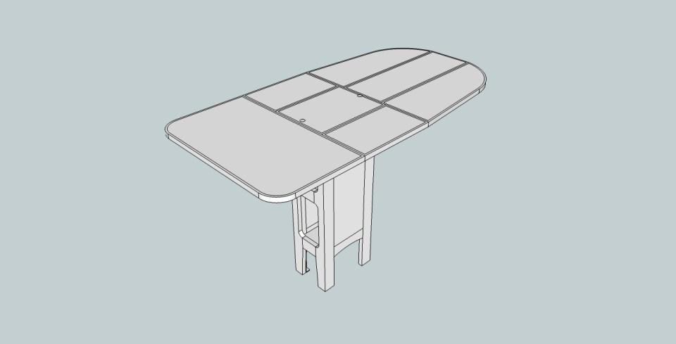 Sittbrunnsbord med extraskiva från ovan