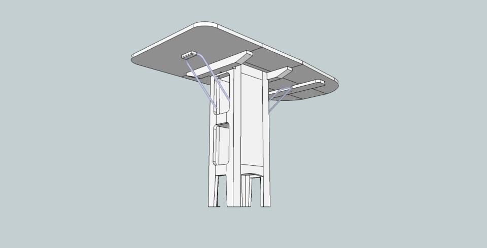 Sittbrunnsbord med extraskiva