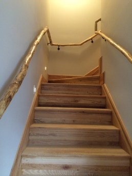 Stairs with locust railings