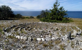 A stone labyrinth. This one is probably a fairly modern one.
