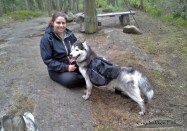 Denali and me on a hike to Piggen