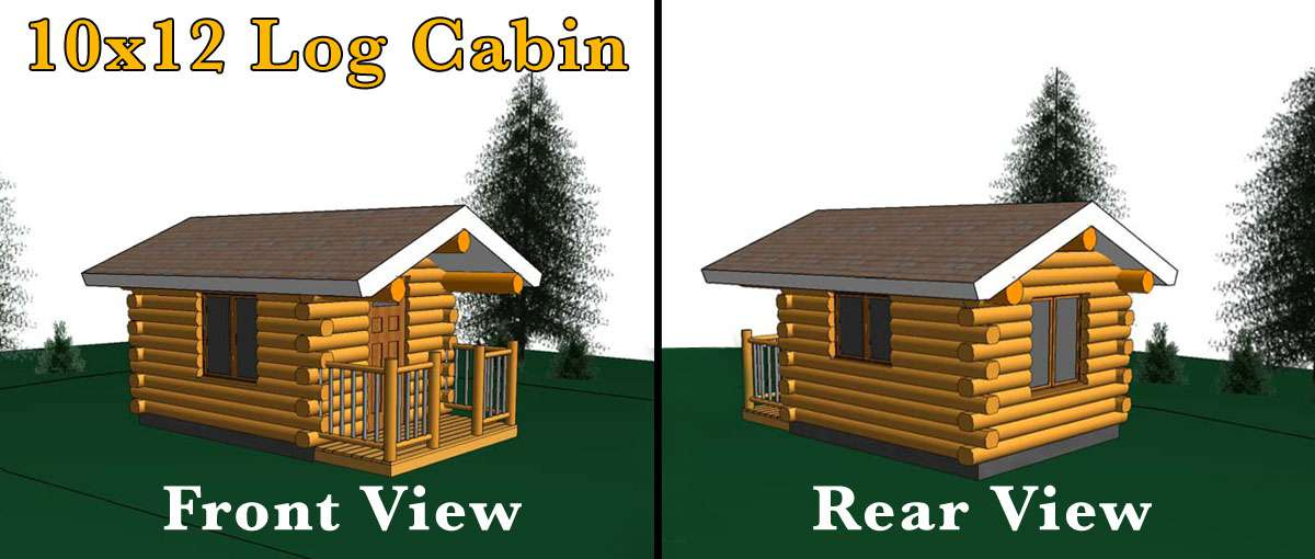 10x12 Log Cabin Meadowlark Log Homes