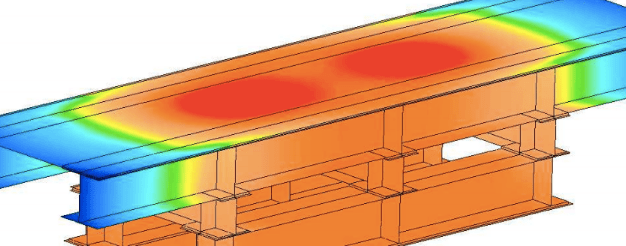 finite element analysis of beams with stress distribution