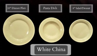 Tableware Rentals - White Plates