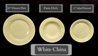 Tableware Rentals - White Plates