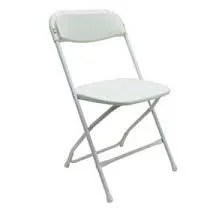 white folding chair rental