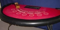 Blackjack table available as a party rental from Meadowvale Party Rentals.