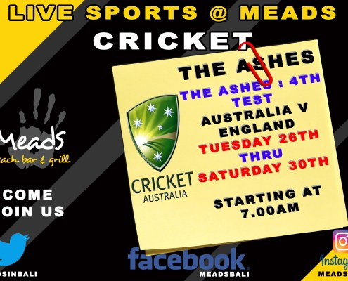 Meads in Bali Sports Schedule Cricket