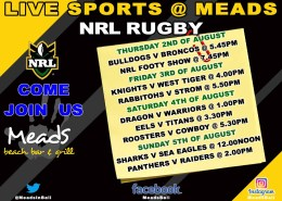 LIVE SPORTS MEADS BALI - NRL RUGBY