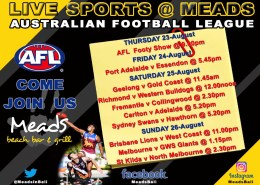 Meads in Bali Live Sports AFL