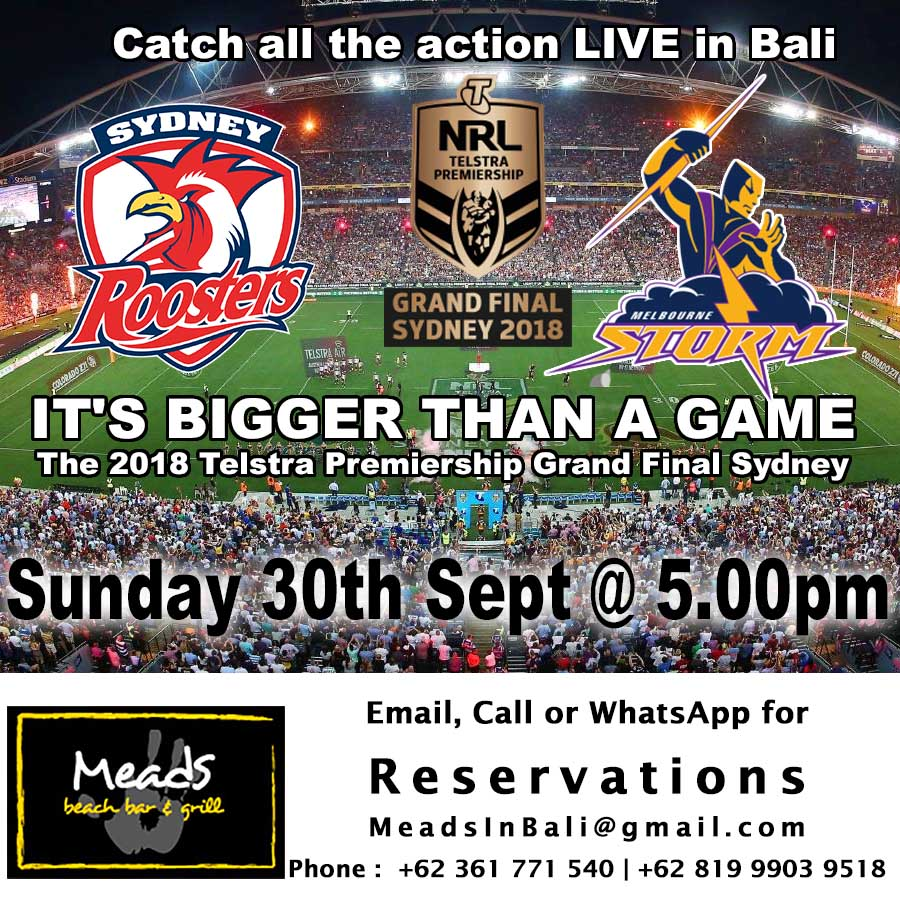 2018 NRL Grand Final Meads in Bali