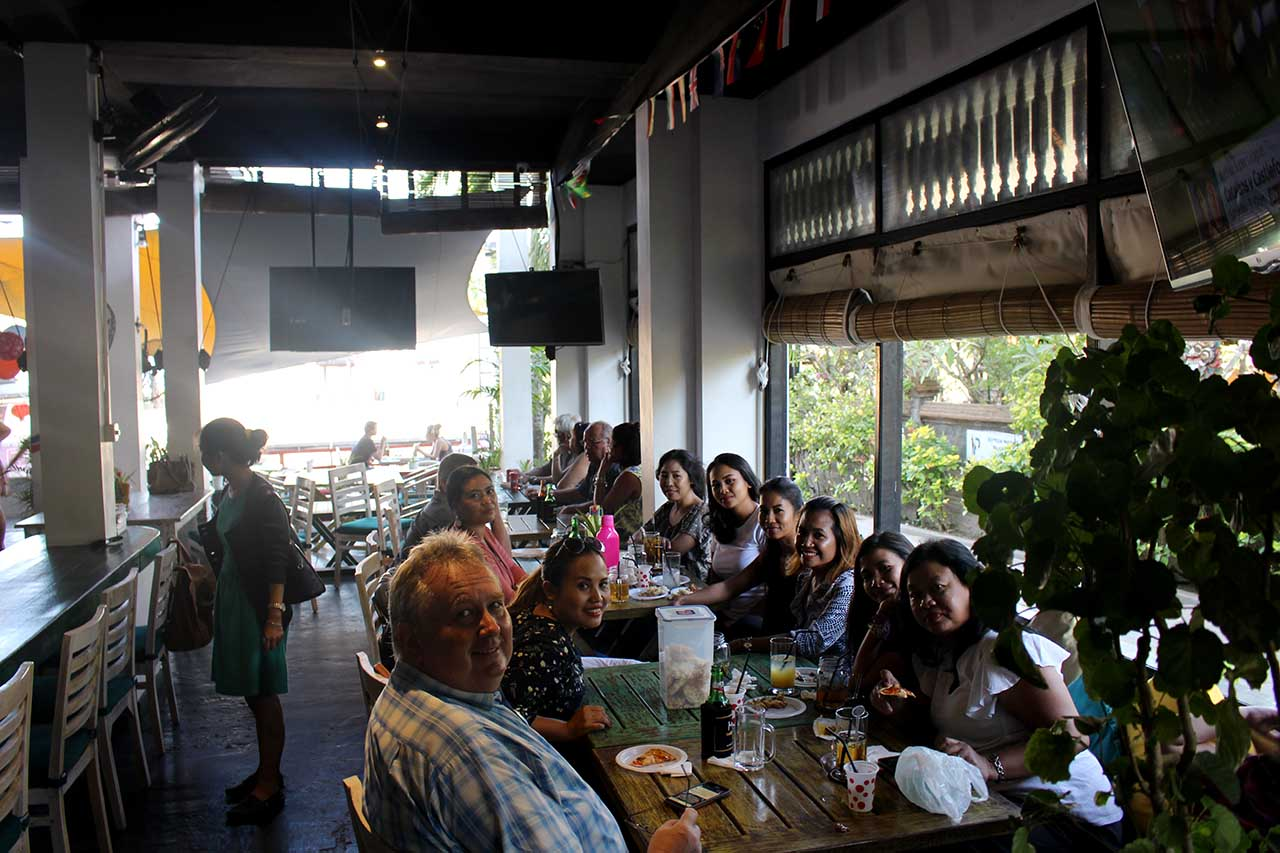 We can accommodate large parties at Meads in Bali