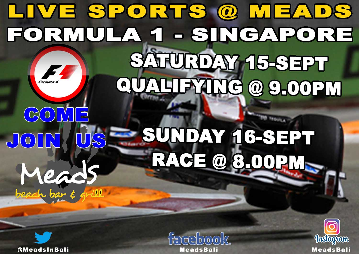 Meads in Bali Sports Formula 1