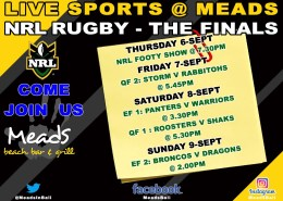 NRL Rugby Grand Finals @ Meads in Bali