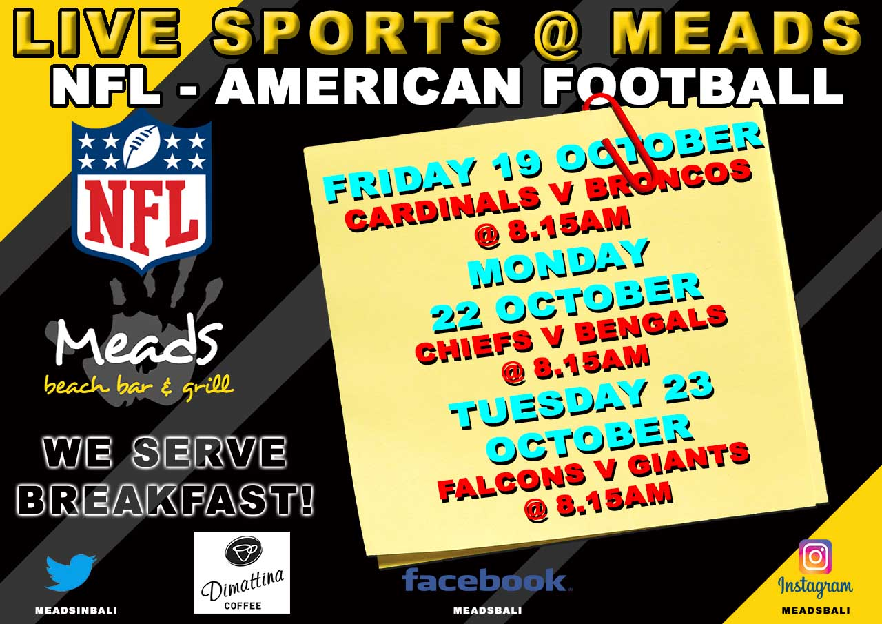 Meads in Bali Sports Schedule NFL