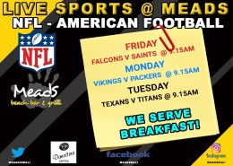 MEADS IN BALI LIVE SPORTS NFL