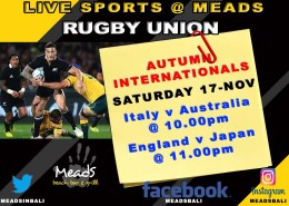 RUGBY UNION LIVE @ MEADS BEACH BAR & GRILL BALI