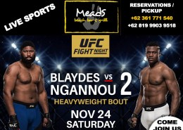 WHATS ON THIS WEEK MEADS IN BALI LIVE SPORTS UFC Fight Night