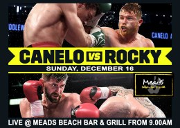 Where to Watch Canelo v Rocky Boxing in Bali Meads Beach Bar & Grill