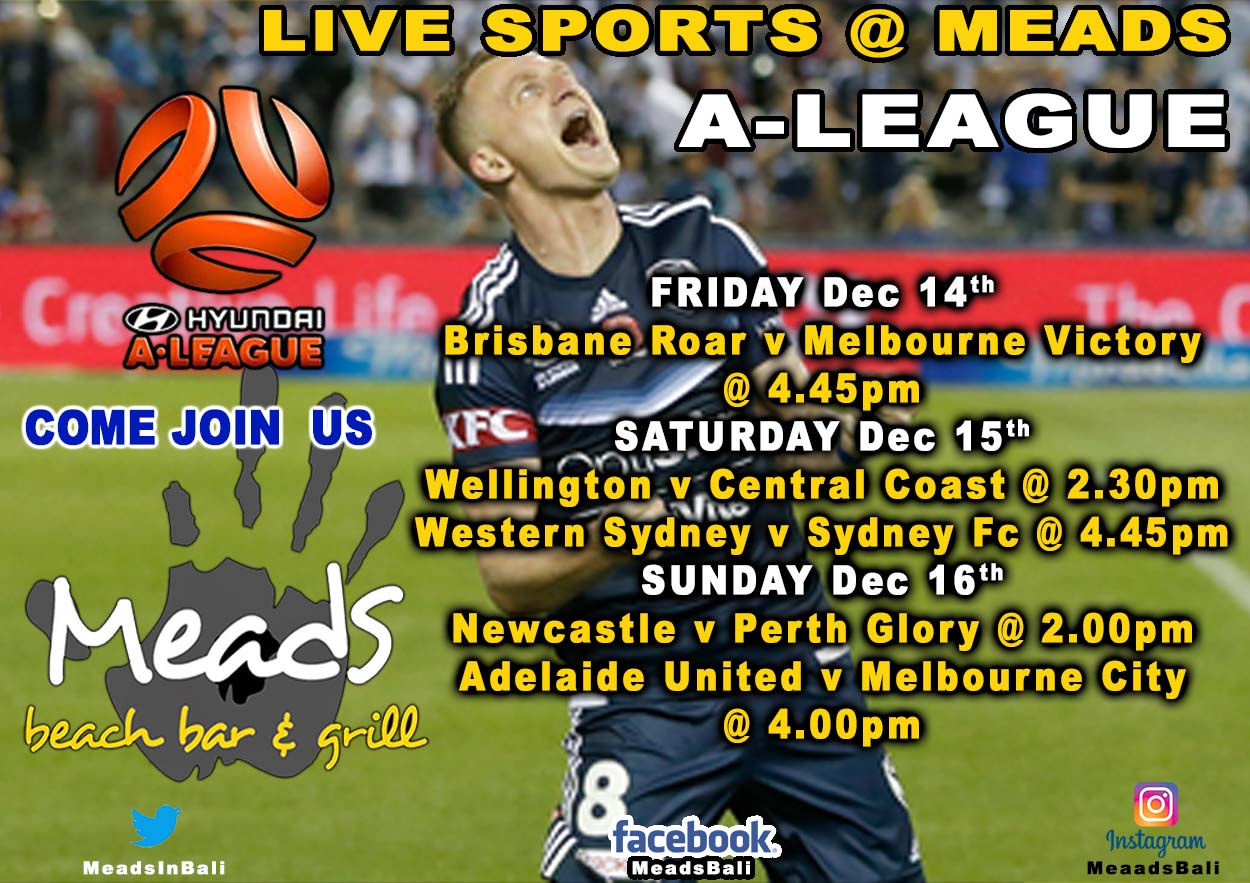 Where to Watch A-League in Bali Meads Beach Bar & Grill