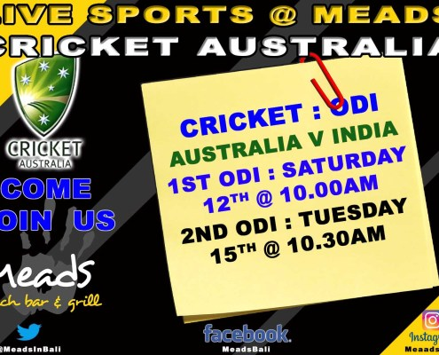 Meads in Bali Sports Cricket Australia Test Match