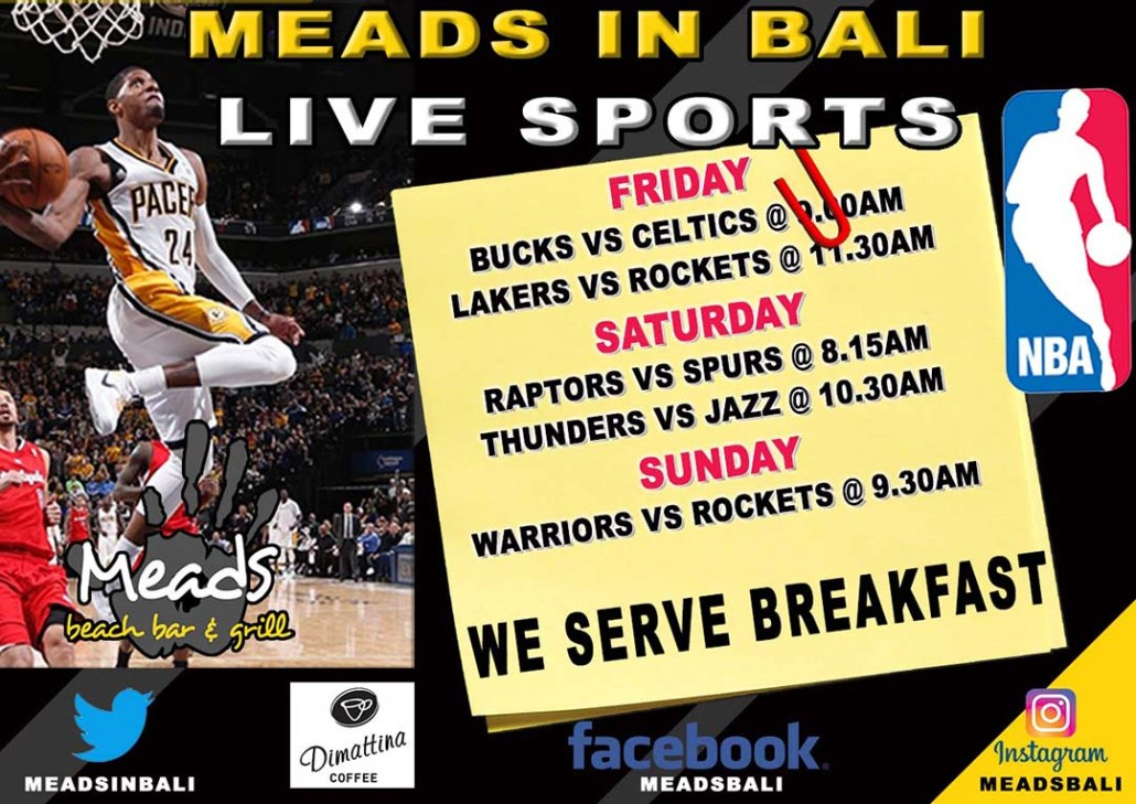 NBA Live @ Meads in Bali