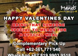 Meads in Bali Valentines Day.