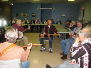 Every week at the Legion in Owen Sound the Queen's Bush Bluegrass Club gets together to jam