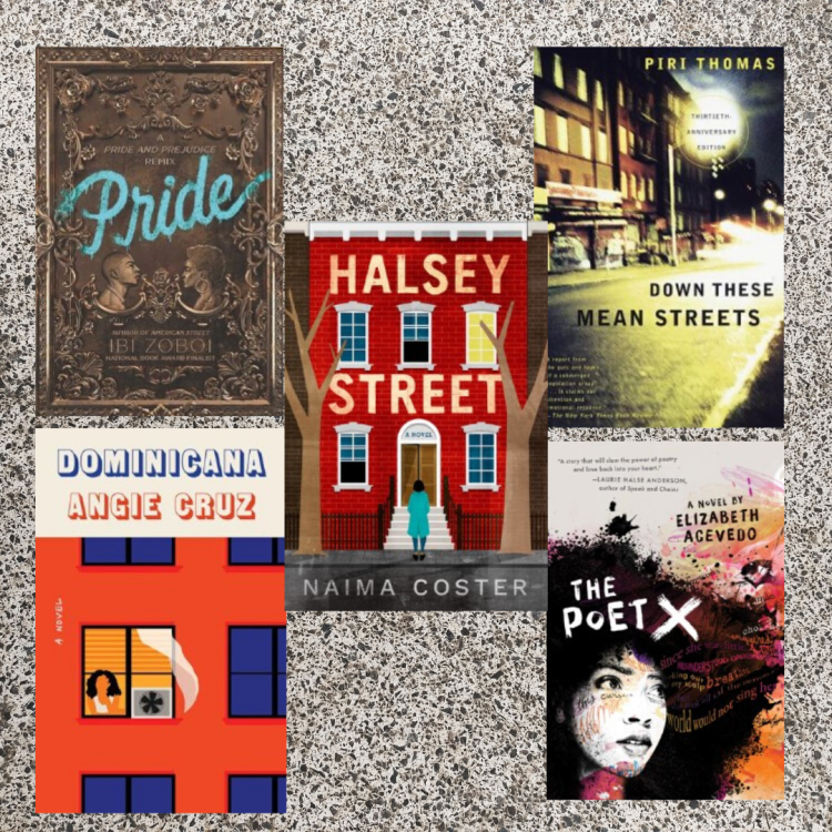titles of 5 afro-latinx books