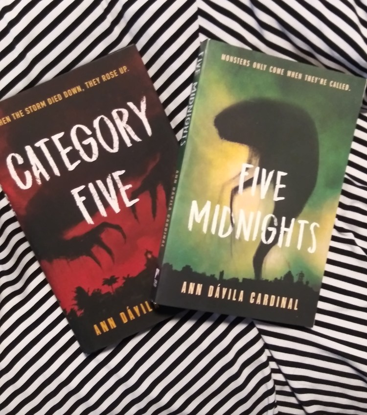 Latinx Heritage Month celebrating with Five Midnights and Category Five by Ann Davila Cardinal spooky reads