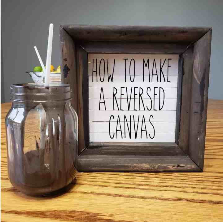 Reversed Canvas (with a Shiplap Twist)
