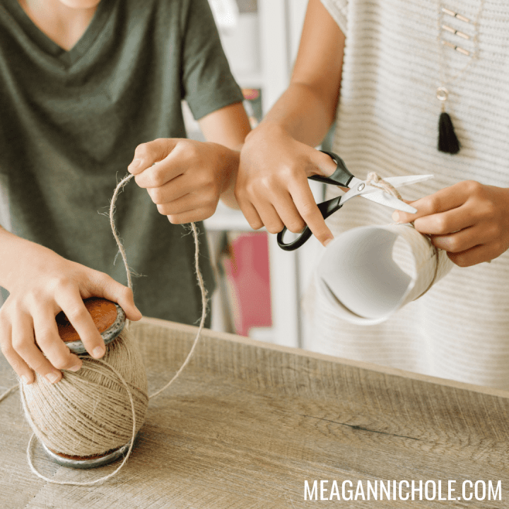 photo of two kids crafting for a summer crafts for kids blog post