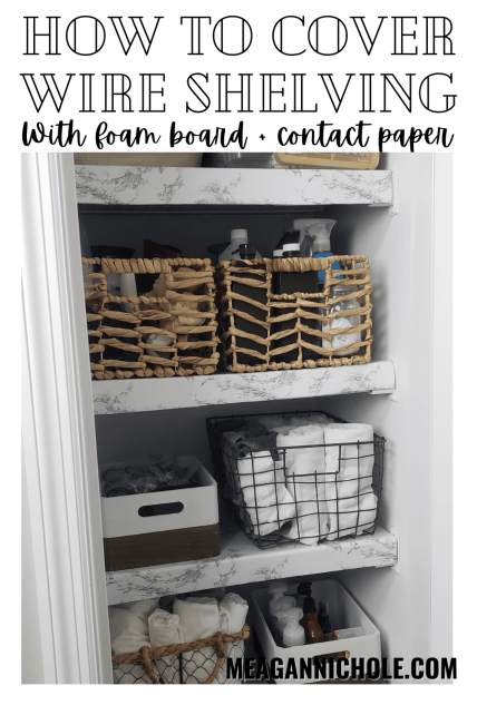 how to cover wire shelving