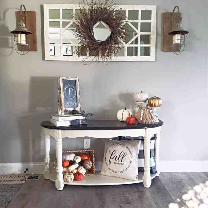 SImple fall entryway with a rustic charm