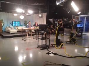 """""""Everyday"""" show's set while on-air"""