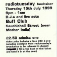 Radio Tuesday fundraiser ticket, 1999