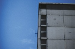 Radio antenna attached to tower block, 1999