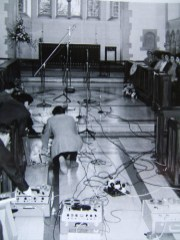 Setting up for church recording
