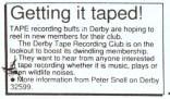 Evening Telegraph news clipping - advertisement seeking new members