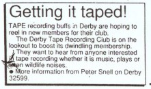 Evening Telegraph news clipping - advertisement seeking new members