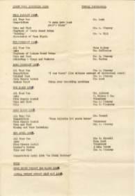 DTRC Programme Jan-April 1967