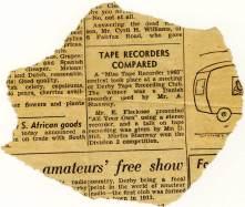 Evening Telegraph news clipping - Feb, 1965