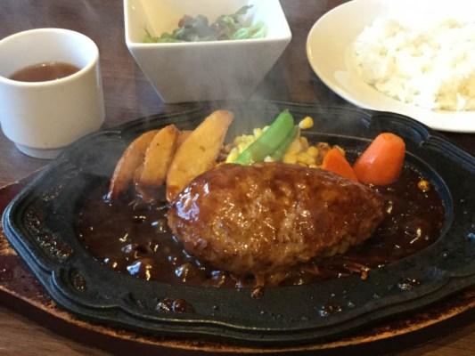 平成30年 北斗市 キッチンやまぐち ハンバーグステーキセット