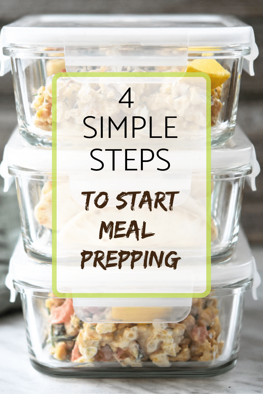 4 simple steps to start meal prepping